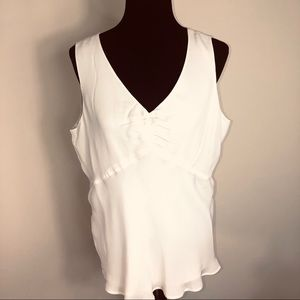 Alfani Sleeveless Ivory Silk Nantucket Blouse